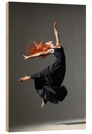 Stampa su legno  Dancer with red hair