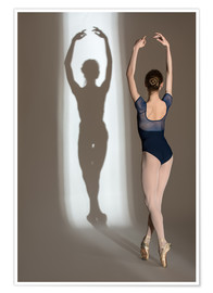 Poster Premium Shadow of Ballerina