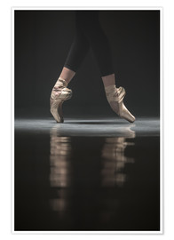 Poster Premium  The legs of the ballerina