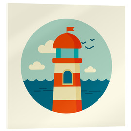 Vetro acrilico  Lighthouse in a circle - Kidz Collection