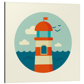 Alluminio Dibond  Lighthouse in a circle - Kidz Collection
