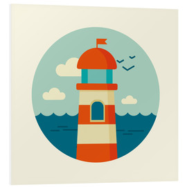 Stampa su schiuma dura  Lighthouse in a circle - Kidz Collection