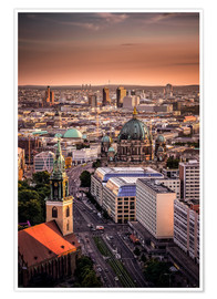 Poster Premium Berlin Evening Mood