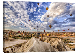 Stampa su tela  Balloon spectacle Cappadocia - Turkey - Achim Thomae