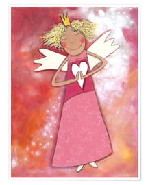 Poster Premium  Blonder guardian angel for girls - Atelier BuntePunkt