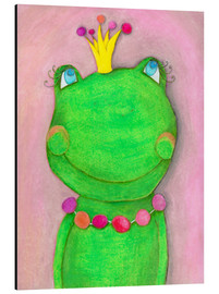 Stampa su alluminio  The Frog Queen and the colorful crown - Atelier BuntePunkt