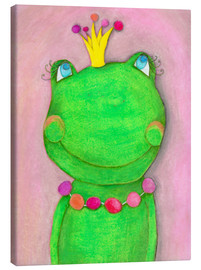 Tela  The Frog Queen and the colorful crown - Atelier BuntePunkt