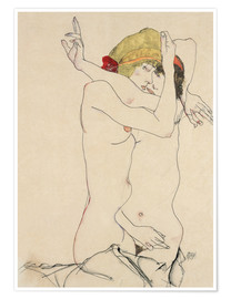 Poster  Two Friends - Egon Schiele