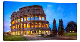 Stampa su tela  Coliseum in Rome Italy - Jan Christopher Becke