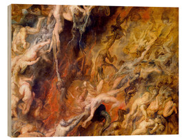 Stampa su legno  Hell of the Damned (Detail) - Peter Paul Rubens