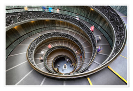 Poster Premium Staircase in the Vatican Museum in Rome