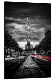 Stampa su alluminio  Victory Column Berlin in the evening - Sören Bartosch