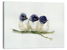 Tela  3 little swallows - Verbrugge Watercolor