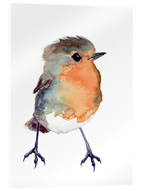 Vetro acrilico  Baby Robin Watercolour - Verbrugge Watercolor