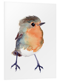 Stampa su schiuma dura  Baby Robin Watercolour - Verbrugge Watercolor