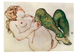 Schiuma dura  Nude with green stockings - Egon Schiele