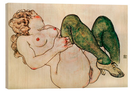 Legno  Nude with green stockings - Egon Schiele
