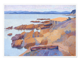 Poster Premium  Coast near Antibes - Henri Edmond Cross