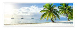 Poster Premium  Summer, sun, beach and sea in the Caribbean vacation - Jan Christopher Becke
