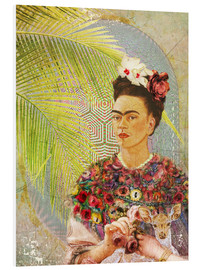 Forex  Frida Kahlo con cervo - Moon Berry Prints