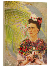 Legno  Frida Kahlo With Deer - Moon Berry Prints