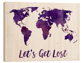 Legno  World map purple - Mod Pop Deco