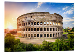 Jan Christopher Becke - Coliseum in Rome Italy at sunset