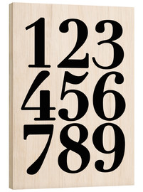 Stampa su legno  Enumerated! I numeri 1 - 9 - Finlay and Noa