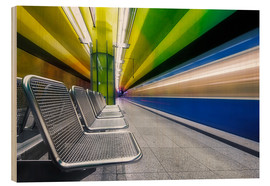 Legno  Candidplatz subway station in Munich - Dieter Meyrl