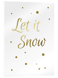 Vetro acrilico  Let It Snow - Lascia che nevichi - Finlay and Noa
