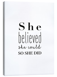 Stampa su tela  She believed she could - Finlay and Noa