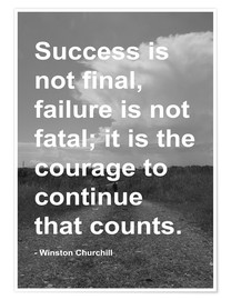 Poster  Winston Churchill su Courage - Finlay and Noa