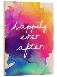 Stampa su legno  Happily Ever After - Felice fino alla fine della vita - Finlay and Noa