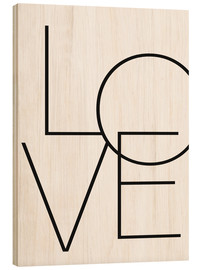 Stampa su legno  Love - Finlay and Noa