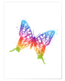 Poster Premium Butterfly Watercolor