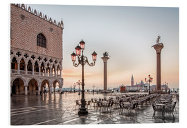 Stampa su PVC  St. Mark's square in Venice during sunrise - Dieter Meyrl