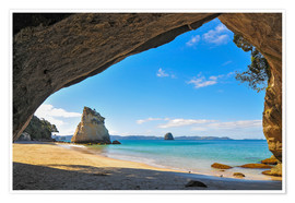 Poster Premium Cathedral Cove
