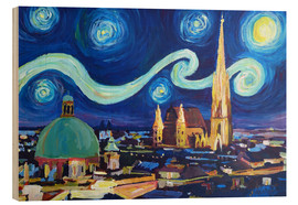 M. Bleichner - Starry Night in Vienna Austria   Saint Stephan Cathedral Van Gogh Inspirations