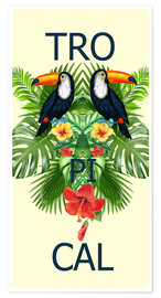 Poster Premium  new tropic BIRDS - Mark Ashkenazi