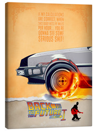Stampa su tela  Back to the Future - Minimal Movie - Part 1 of 3 Alternative - HDMI2K