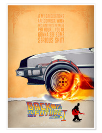 Poster  Back to the Future - Minimal Movie - Part 1 of 3 Alternative - HDMI2K