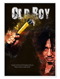Poster Premium Oldboy - Minimal Movie Movie Fanart Alternative