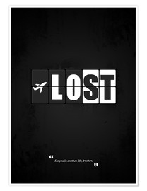Poster  Lost - Minimal TV series Alternative - HDMI2K