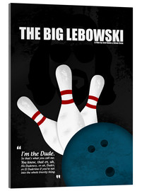 Vetro acrilico  The Big Lebowski - Minimal Movie Film Cult Alternative - HDMI2K