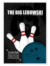 Poster Premium  The Big Lebowski - Minimal Movie Film Cult Alternative - HDMI2K