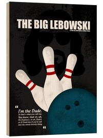 Stampa su legno  The Big Lebowski - Minimal Movie Film Cult Alternative - HDMI2K