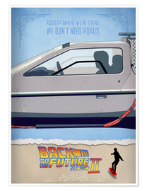 Poster Premium Back to the Future - Minimal Movie - Part 2 of 3 Alternative