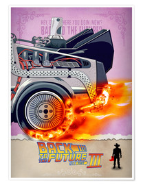 Poster Premium Back to the Future - Minimal Movie - Part 3 of 3 Alternative