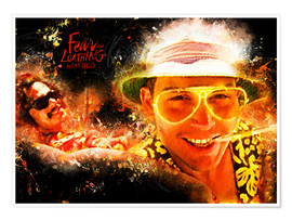 Poster Premium  Fear and Loathing in Las Vegas - Movie Film Alternative - HDMI2K