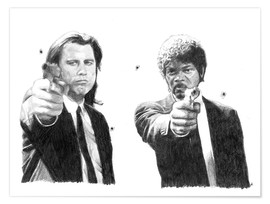 Poster PULP FICTION alternative movie art